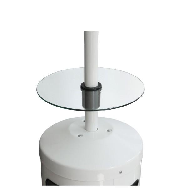 Glazen tafeltje voor terrasverwarmer Enders Elegance en Colour